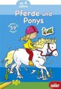 Pferde und Ponys Malbuch mit Stickern