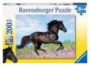200 Teile XXL Puzzle: Schwarzer Hengst