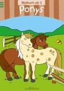 Malbuch ab 3 Jahren: Ponys
