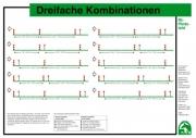 Lehr-/ Pferdetafel (A4) - Dreifache Kombinationen