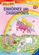 Malbuch: Einhörner und Zauberponys