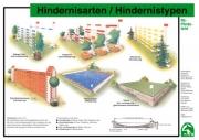 Lehr-/ Pferdetafel (A4) - Hindernisarten/Hindernistypen