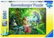 100 Teile XXL Puzzle: Im Reich des Einhorns