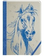 Pferdefreunde - Meine Notizen (blau)