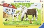 Stute und Fohlen (15 Teile Puzzle)